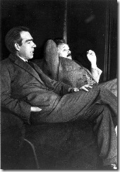 Einstein and Niels Bohr. Einstein's disagreement with Bohr revolved around the idea of scientific determinism.