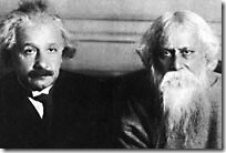 Einstein with Indian poet and Nobel laureate Rabindranath Tagore during their widely publicized 14 July 1930 conversation